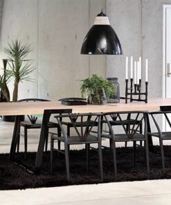Catalent Luxusný jedálenský stôl Zora 290 - 410cm prírodná/čierna