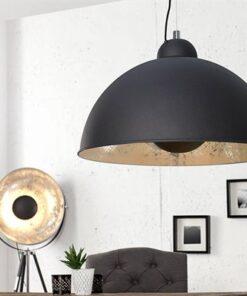 LuxD 17825 Lampa Atelier čierno-strieborná závesné svietidlo
