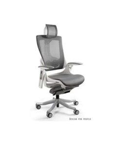 Meble PL Kancelárska stolička Wanda II - sieťová biely podklad olivová