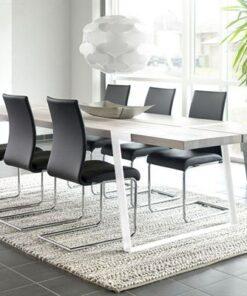 Catalent Jedálenský stôl Annie 290 - 410cm / biela-prírodná