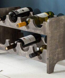 LuxD Regál na víno Winebar 54 cm sivé mango