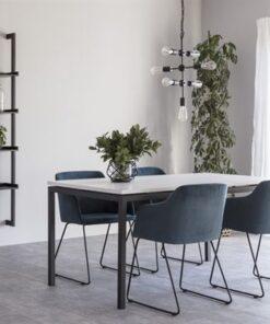 Dkton Jedálenský stôl rozkladací Nahia 160/210 cm biely