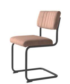 Furniria 23936 Konzolová stolička Javon ružový zamat