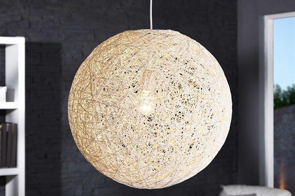 LuxD 16675 Lampa Wrap biela 60cm závesné svietidlo