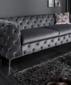LuxD Dizajnová sedačka Rococo 240cm / grey