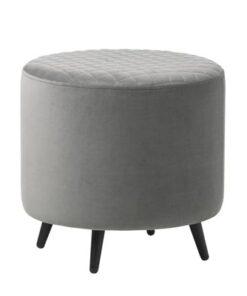 Furniria Dizajnová taburetka Hallie 45 cm sivý zamat  - RP