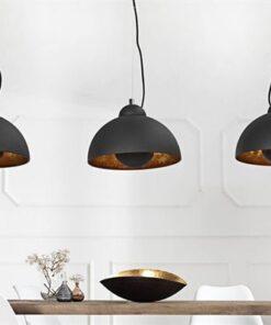 LuxD 17525 Dizajnová závesná lampa STAGE 3 čierna/zlatá závesné svietidlo