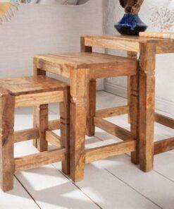 LuxD Set 3 odkladacích stolíkov Harlow 45 cm prírodné mango