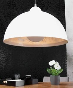 LuxD 16768 Lampa Atelier bielo-strieborná závesné svietidlo