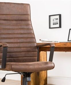 LuxD Kancelárska stolička Roma Vintage hnedá 125cm