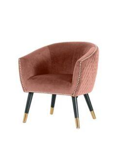 Furniria Dizajnové kreslo Siena ružový zamat
