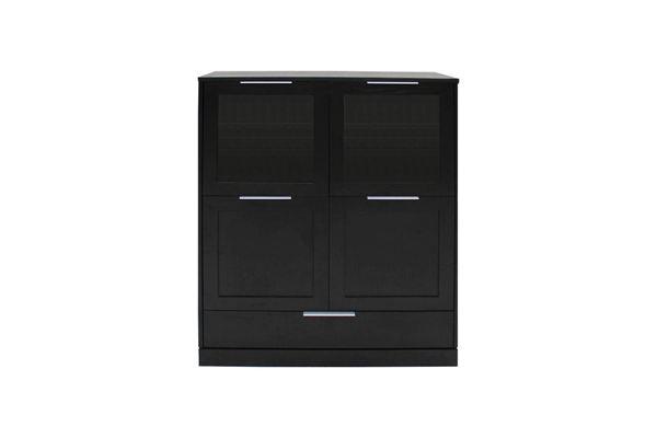 Catalent Dizajnová komoda Franco / 4 dverová čierna