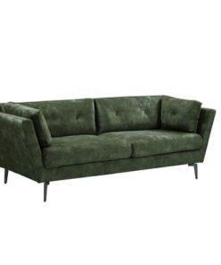 LuxD Dizajnová sedačka Billy 220 cm tmavozelený zamat
