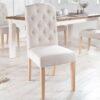 LuxD 23785 Dizajnová stolička Queen béžová