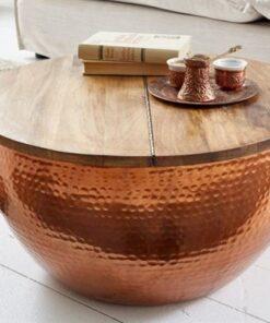 LuxD Dizajnový konferenčný stolík Malia Orient medený