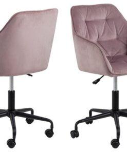 Dkton Kancelárska stolička Alarik ružová