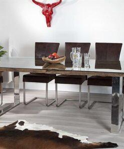 LuxD Luxusný jedálenský stôl z masívu Shark 180cm