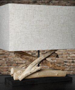 LuxD 18681 Stolná lampa Adela béžová