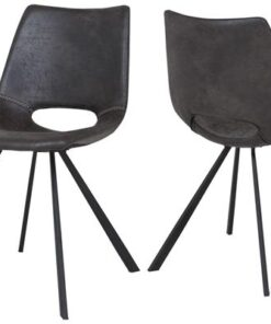 Catalent 19867 Dizajnová stolička Izabella /sivo čierna
