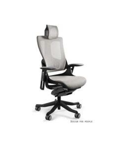 Meble PL Kancelárska stolička Wanda II - tkanina čierny podklad modrá
