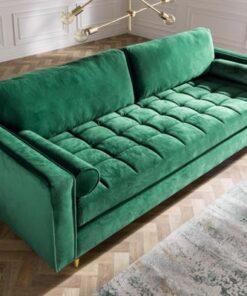 LuxD Dizajnová sedačka Adan zelený zamat