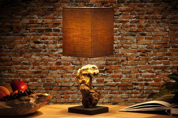 LuxD 17119 Stolná lampa REST hnedá