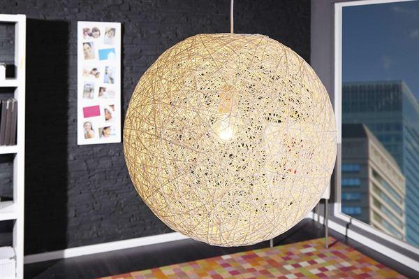 LuxD 16676 Lampa Wrap biela 45cm závesné svietidlo