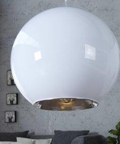 LuxD 16649 Lampa Sphere biela závesné svietidlo