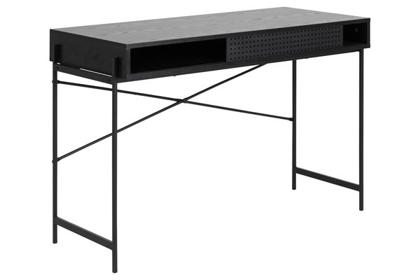 Dkton Dizajnový písací stôl Naarah 110 cm čierny