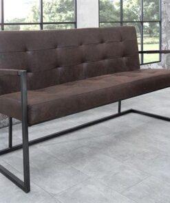 LuxD Dizajnová lavica Ralph / vintage hnedá