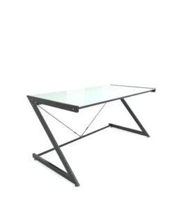 Meble PL Dizajnový stôl Prest biela/čierna