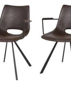 Catalent 19873 Dizajnová stolička Izabella s opierkami / tmavo hnedá