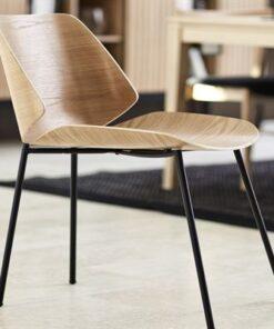 Dkton 23242 Dizajnová jedálenská stolička Alcuin