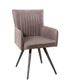 LuxD 18388 Dizajnová stolička Adda šedá