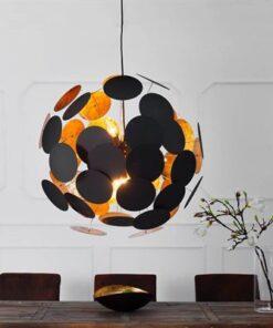 LuxD 17436 Lampa Sunshine čierna závesné svietidlo
