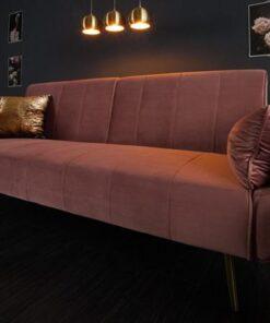 LuxD Rozkladacia sedačka Amiyah staroružový zamat