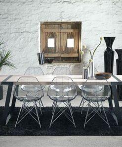 Catalent Jedálenský stôl Annie 290 -410cm / biela-čierna