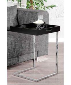 LuxD Odkladací stolík Charlie Black