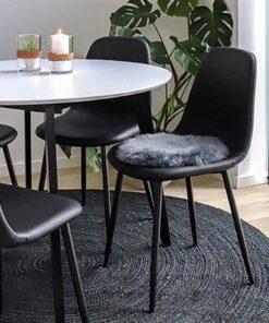 Norddan 21836 Dizajnová stolička Myla tmavosivý menčester - čierne nohy