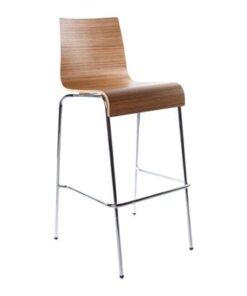 DesignS Moderná barová stolička Aiden zebrano