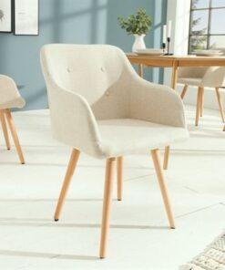 LuxD 20143 Dizajnová stolička Norway krémová