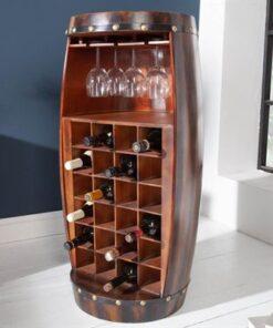 LuxD Regál na víno Winebar 97 cm hnedý