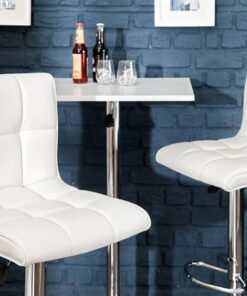 LuxD Dizajnová barová stolička Modern White