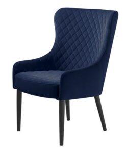Furniria Dizajnové kreslo Hallie modrý zamat