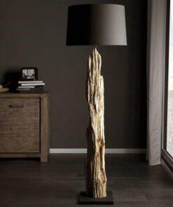 LuxD 16758 Luxusná stojanová lampa Stump čierna Stojanové svietidlo