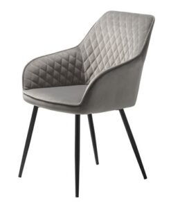 Furniria 24001 Dizajnová stolička Dana sivý zamat