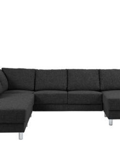 Dkton Dizajnová sedacia súprava Nim antracit 286 cm L