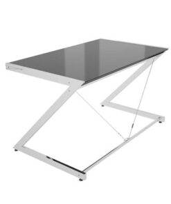 Meble PL Dizajnový stôl Brik chrómovaný čierna