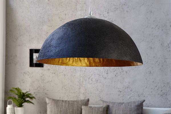 LuxD 16711 Lampa Glimer 70cm čierno-zlatá závesné svietidlo