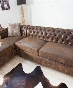 LuxD Rohová sedačka Chesterfield